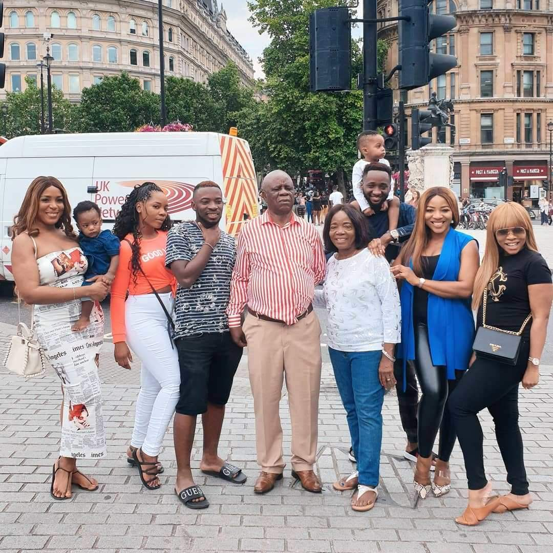 Linda Ikeji gush over her son, Jayce as she spends time with family in London (Photos)