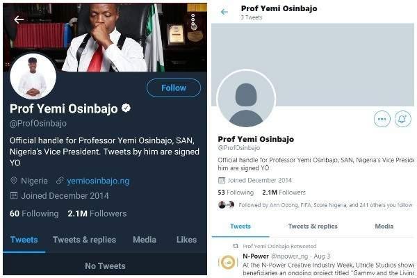 Yemi Osinbajo Twitter