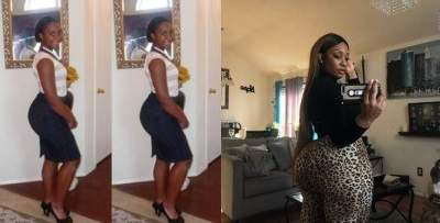 #10YearsChallenge: This lady's backside ten years after is jaw dropping (Photos)