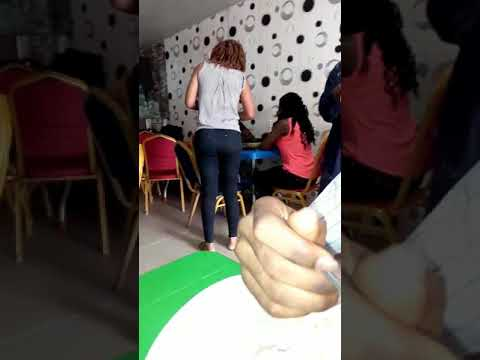 Wife catches her cheating husband with another lady, pours hot soup on him