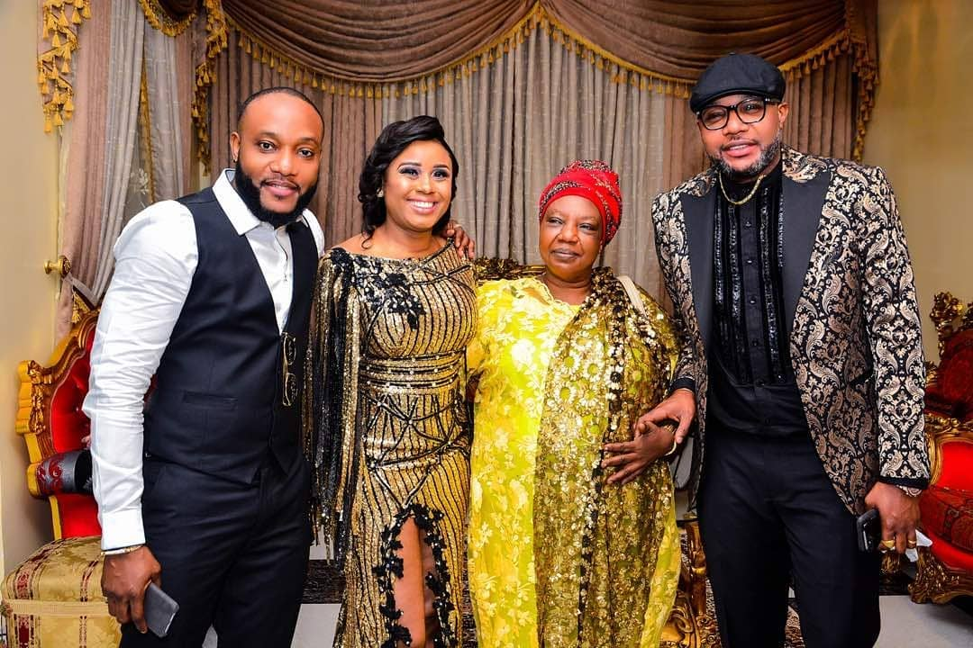 E-Money, Kcee And Their Mother Pictured Together At E-Money's 36th Birthday