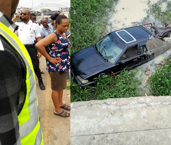 Driver Loses Control Of Car Falls Into Stream In Owerri Photos Lailasnews