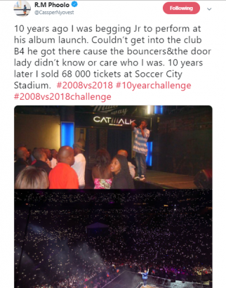 10 Years Ago I Was Begging To Perform 10 Years Later I Sold 68000 Tickets Cassper Nyovest Lailasnews 1