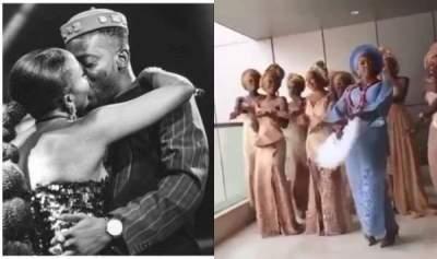 Video of Simi and bridesmaids dancing shaku shaku