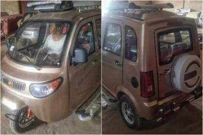 Photos of fully air conditioned Keke Napep spotted in Anambra state
