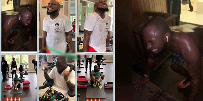 Davido Hits The Gym In A Bid To Develop 6 Packs Trains Hard Video