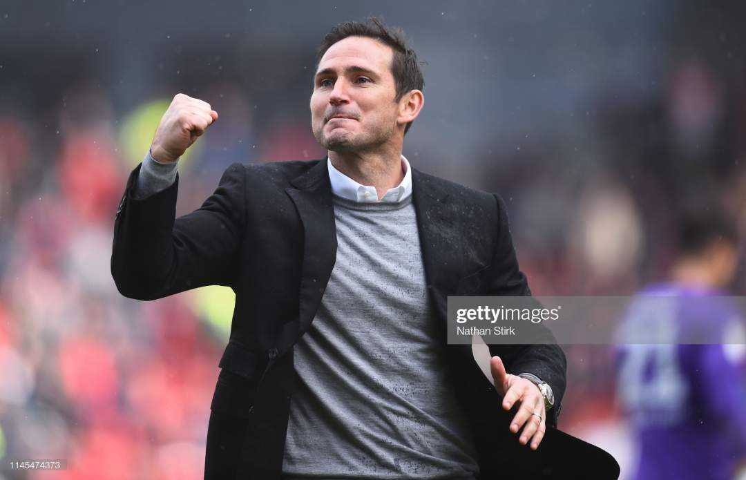 Manager Frank Lampard Of Derby County Celebrates During The Sky Bet Picture Id1145474373?s=28
