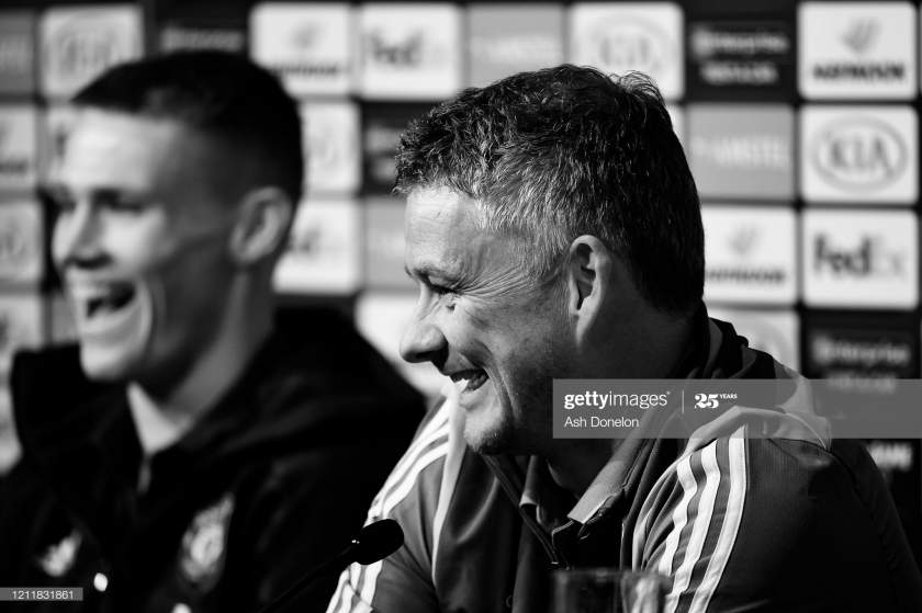 Manager Ole Gunnar Solskjaer Of Manchester United Speaks During A Picture Id1211831861?s=28