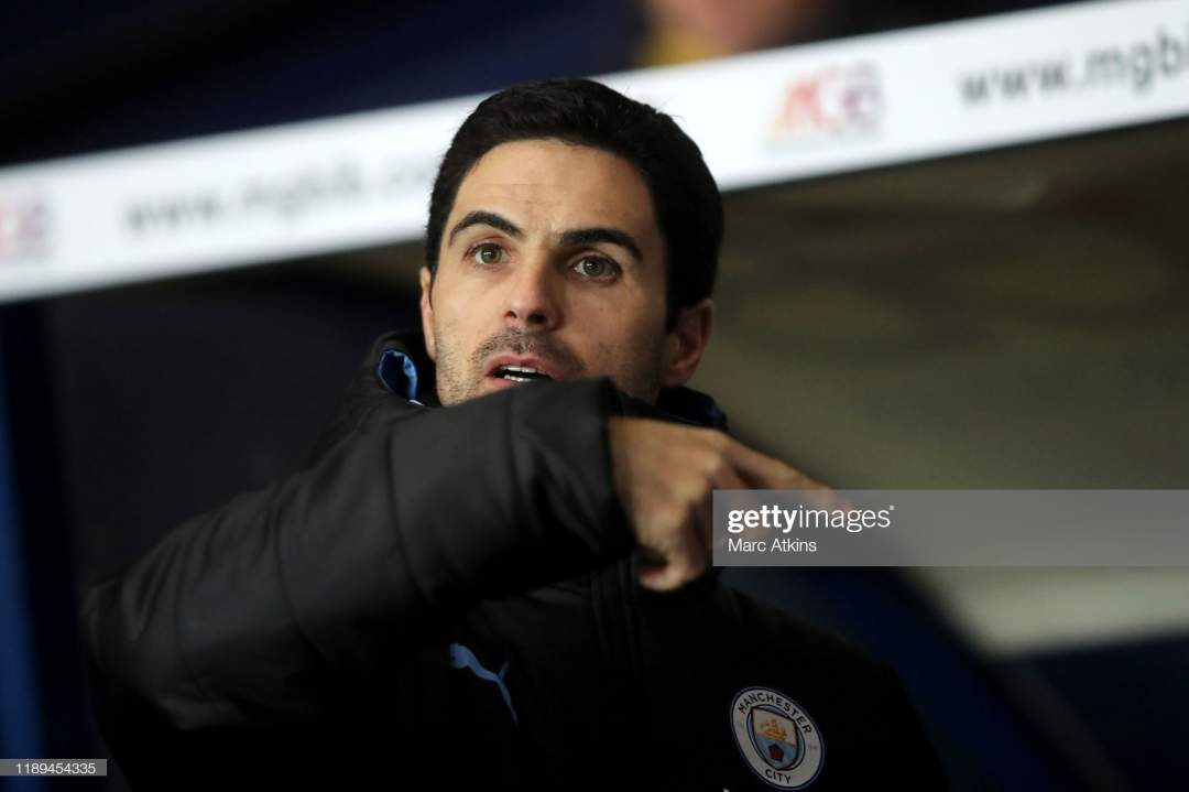 Mikel Arteta Assistant Coach Of Manchester City During The Carabao Picture Id1189454335?s=28