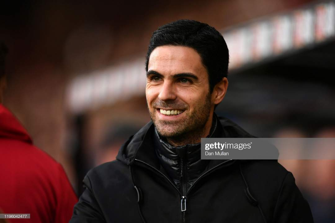 Mikel Arteta Manager Of Arsenal Looks On Prior To The Premier League Picture Id1196042477?s=28