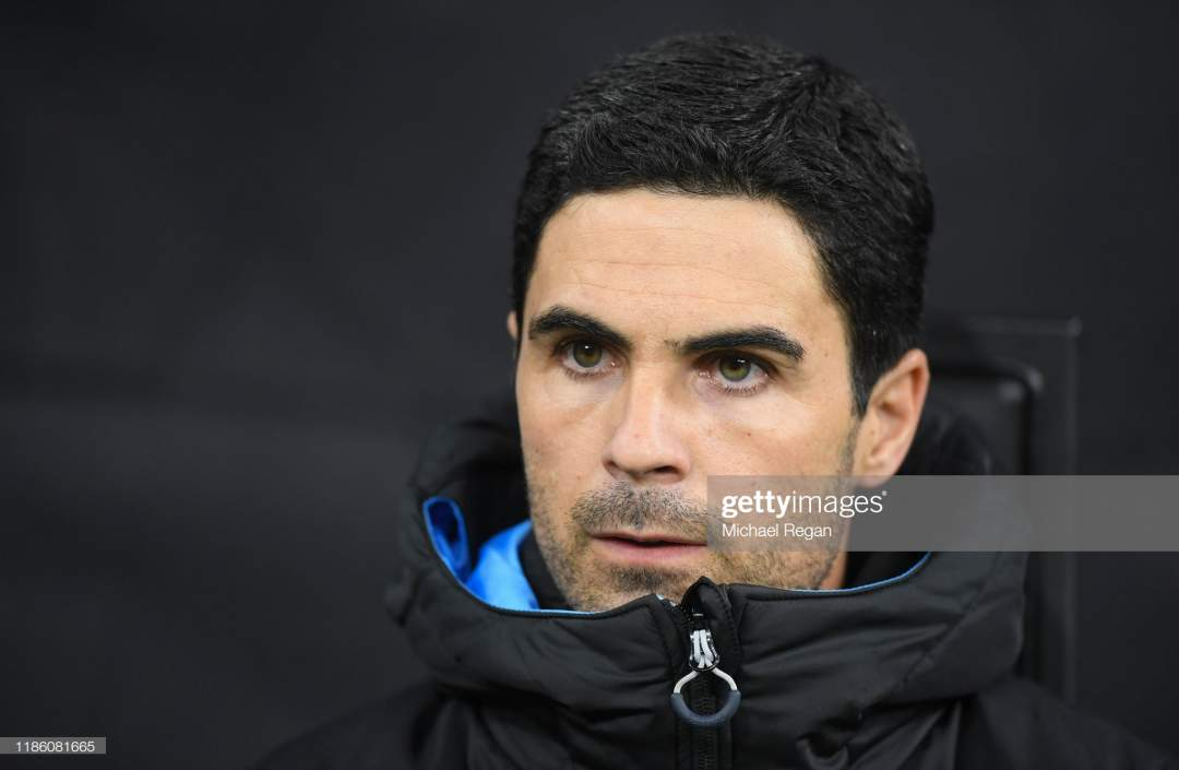 Mikel Arteta Manchester City Assistant Coach Looks On During The Uefa Picture Id1186081665?s=28