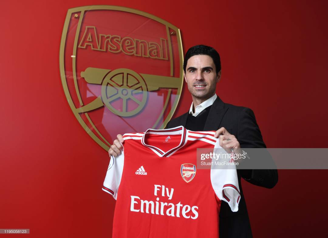 New Arsenal Head Coach Mikel Arteta Is Unveiled At London Colney On Picture Id1195058123?s=28