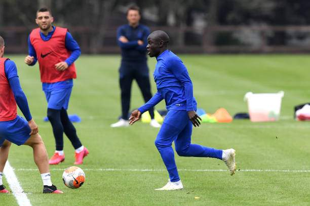Ngolo Kante Of Chelsea In Action During A Training Session At Chelsea Picture Id1219605837?k=6&m=1219605837&s=&w=0&h=CEC8Vih2sEUAJCLUh7YxTbq HdQzQquUuIMkBo314A4=