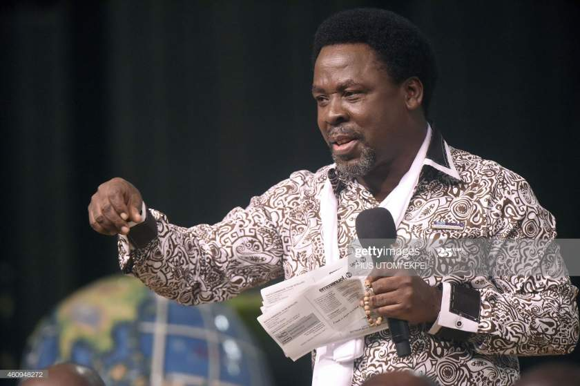 Nigerian Pastor Tb Joshua Speaks During A New Years Memorial Service Picture Id460948272?s=28