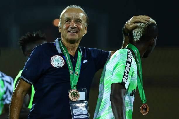 Nigerias National Team Coach Gernot Rohr Celebrates After Receiving A Picture Id1156421965?k=6&m=1156421965&s=&w=0&h=Oxxv7yBIAmRO NyUTDMlZApq E8CU SJ1oXgoMOQFYY=