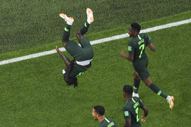 Nigerias Forward Victor Moses Celebrates His Goal During The Russia Picture Id984647866?k=6&m=984647866&s=&w=0&h=5Mk7fOM4FNtrG_AaxVBMYCMjZYbCJpjRMvwXkxnpEf8=