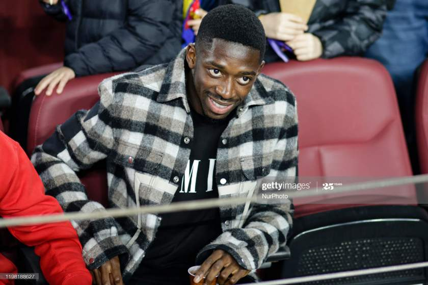 Ousmane Dembele From France Of Fc Barcelona During The La Liga Match Picture Id1198188627?s=28