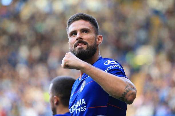 Olivier Giroud Of Chelsea Celebrates During The Premier League Match Picture Id1033790372?k=6&m=1033790372&s=&w=0&h=XTJ8EBudg4fUc6TE31LO40y7t5t0 QcgHdZfGfJmK34=