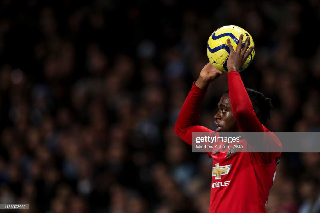 Aaron Wanbissaka Of Manchester United During The Premier League Match Picture Id1186903662?s=28