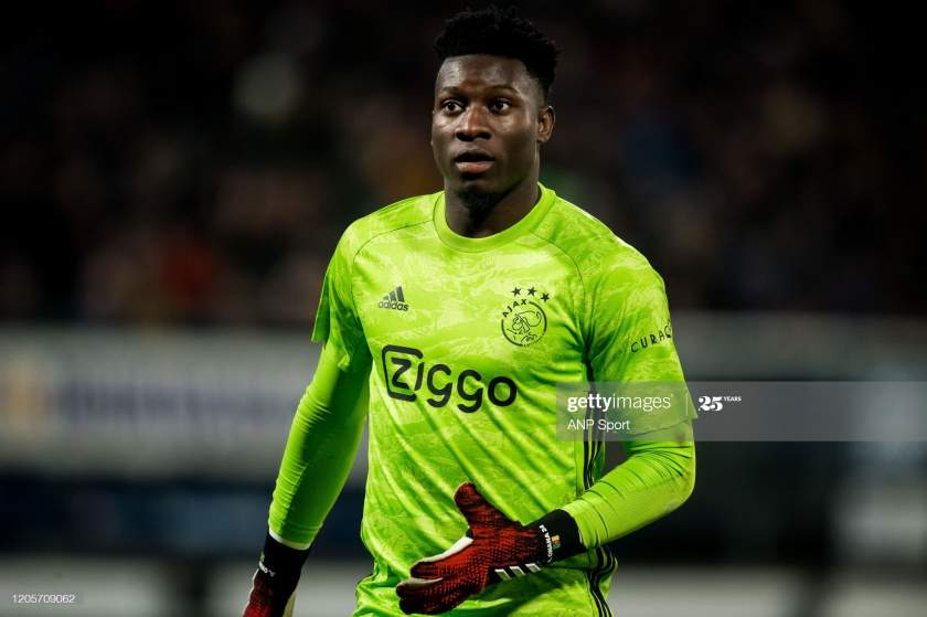 Ajax Goalkeeper Andre Onana During The Dutch Eredivisie Match Between Picture Id1205709062?s=28