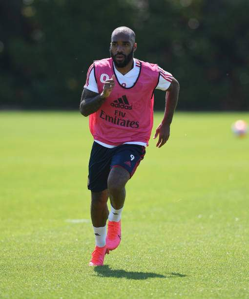 Alex Lacazette Of Arsenal During A Training Session At London Colney Picture Id1235800545?k=6&m=1235800545&s=&w=0&h=vwztiY3LQrqzssUOtrzuUZq7 AvjLwE9IDOVJOLPjrg=
