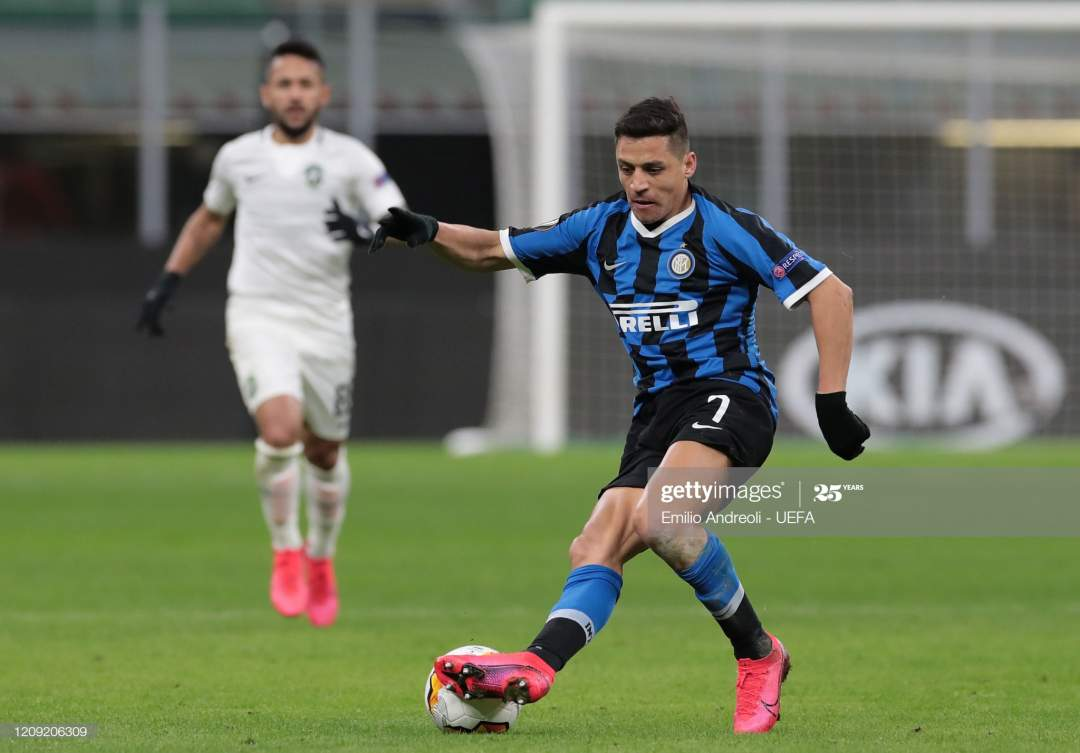 Alexis Sanchez Of Fc Internazionale In Action During The Uefa Europa Picture Id1209206309?s=28