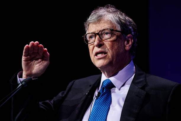 American Businessman And Philanthropist Bill Gates Makes A Speech At Picture Id948065752?k=6&m=948065752&s=&w=0&h=F7541pBWuA_w2NdJUsEowwoZPWErtKAeQSa8I_2Z00k=