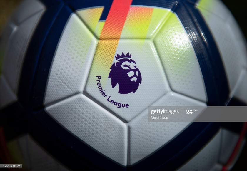 An Official Nike Premier League Match Ball With The Premier League Picture Id1221683622?s=28