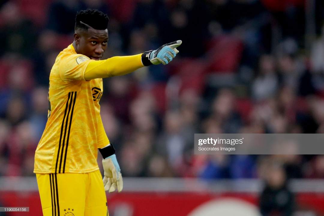 Andre Onana Of Ajax During The Dutch Eredivisie Match Between Ajax V Picture Id1190054156?s=28