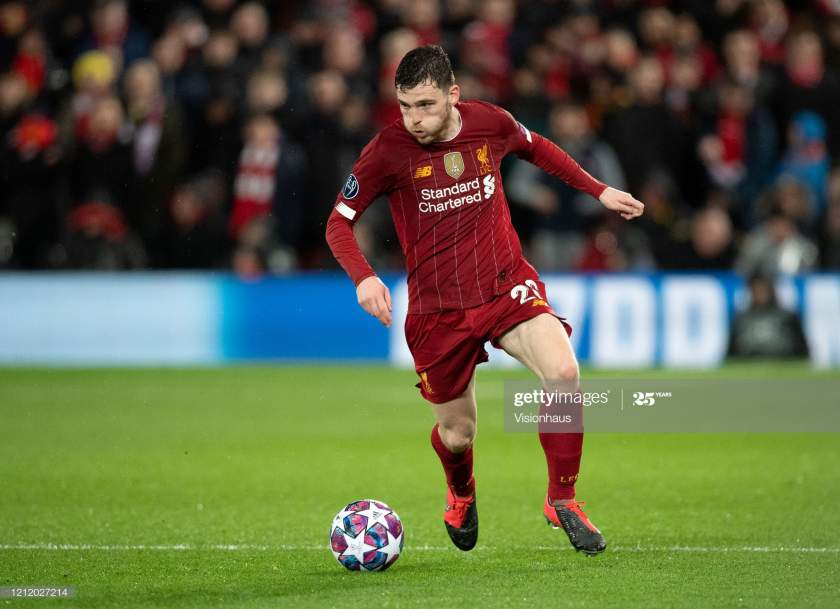 Andrew Robertson Of Liverpool During The Uefa Champions League Round Picture Id1212027214?s=28