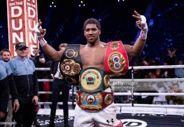 Anthony Joshua's next fighter revealed (he must fight him within 180 days or lose belts)