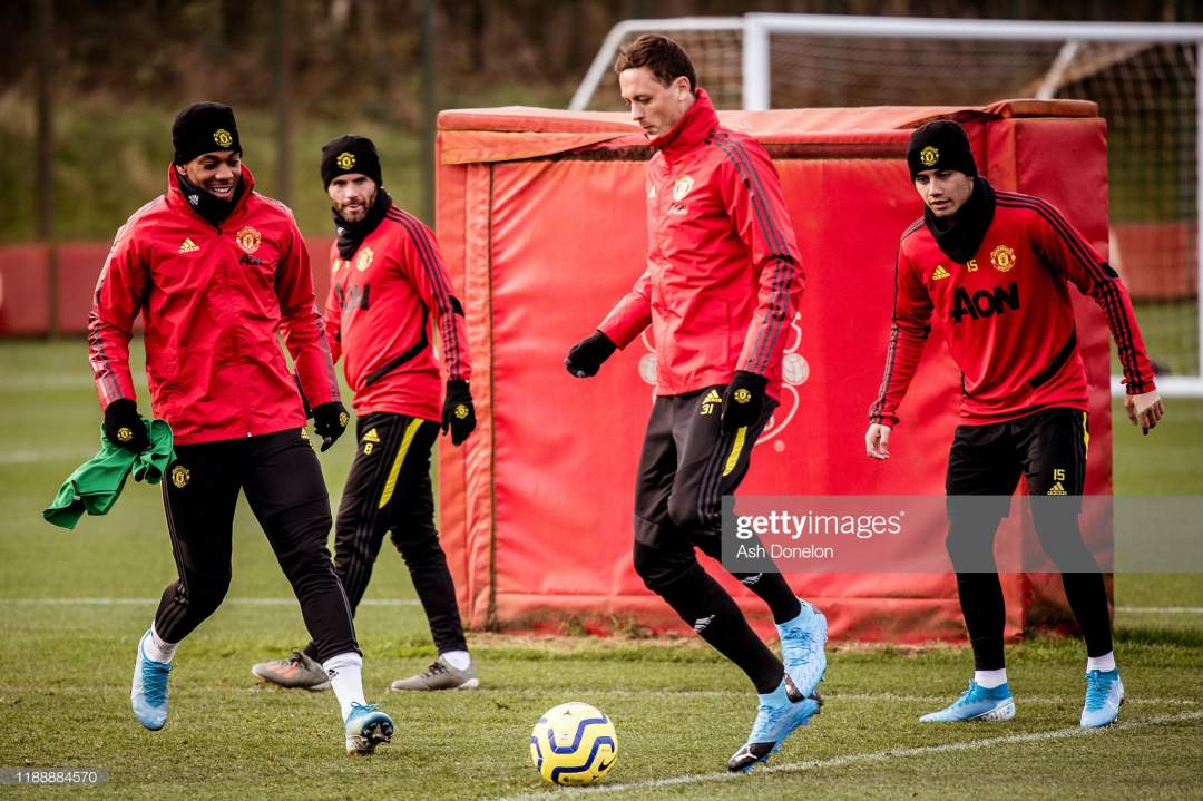 Anthony Martial And Nemanja Matic Of Manchester United In Action A Picture Id1188884570?s=28