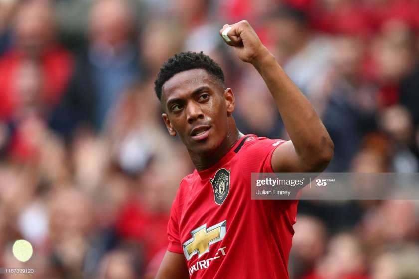 Anthony Martial Of Manchester United Celebrates After Scoring His Picture Id1167399120?s=28