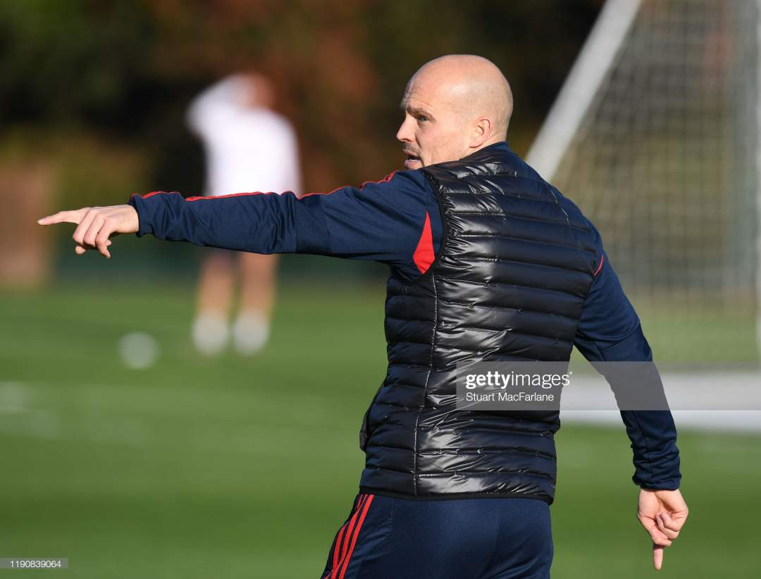 Arsenal Interim Head Coach Freddie Ljungberg During A Training At Picture Id1190839064?s=28