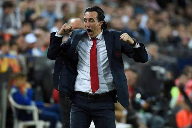 Arsenals Spanish Head Coach Unai Emery Celebrates His Teams Third Picture Id1142462534?k=6&m=1142462534&s=&w=0&h=ITv1RjP337I02oR99ayZZe KefhijIOnpRiSU0wK69E=