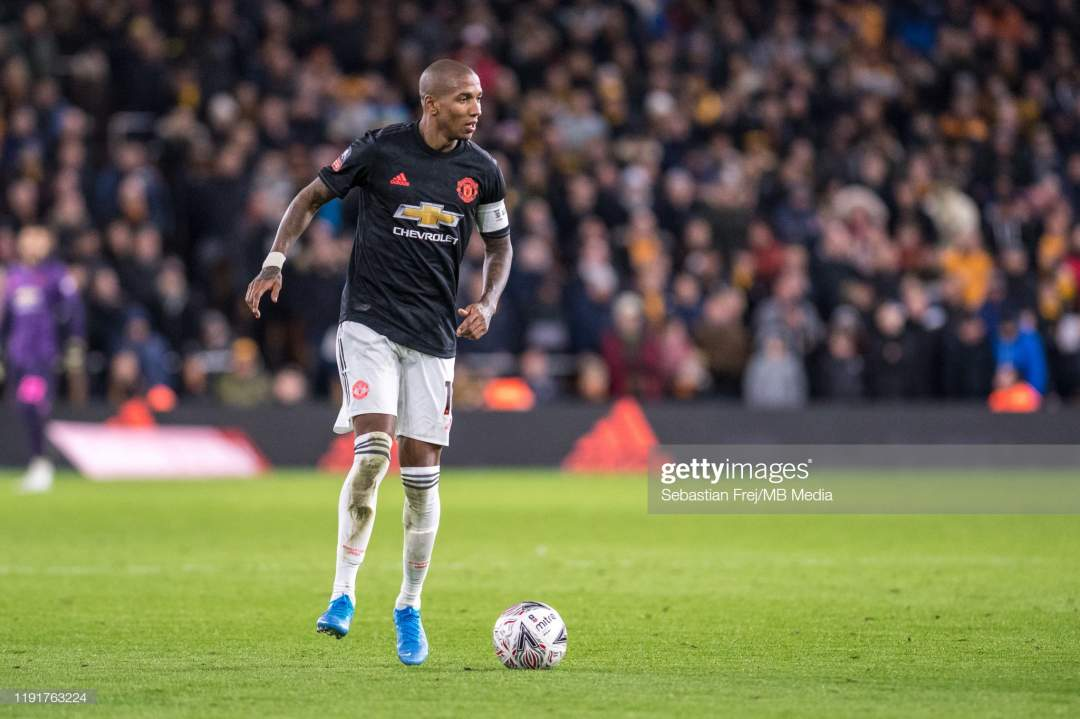 Ashley Young Of Manchester United During The Fa Cup Third Round Match Picture Id1191763224?s=28