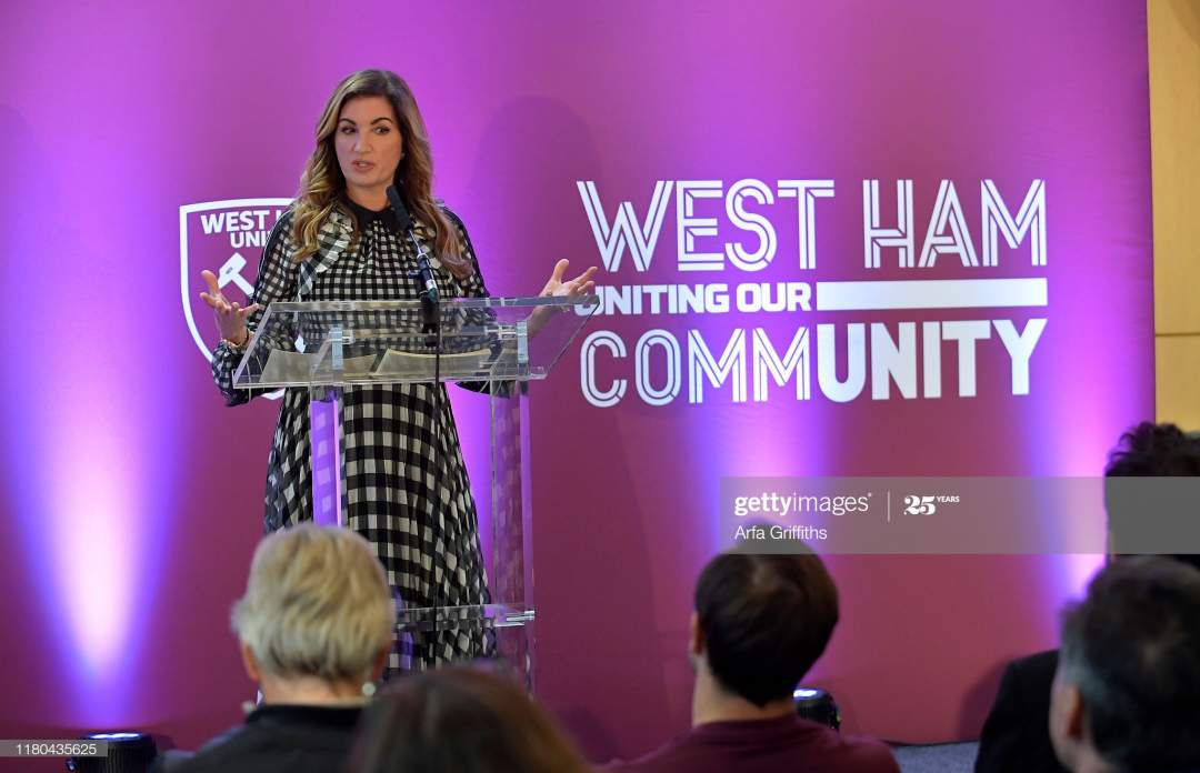 Baroness Karren Brady Of West Ham United At West Ham Uniteds Players Picture Id1180435625?s=28