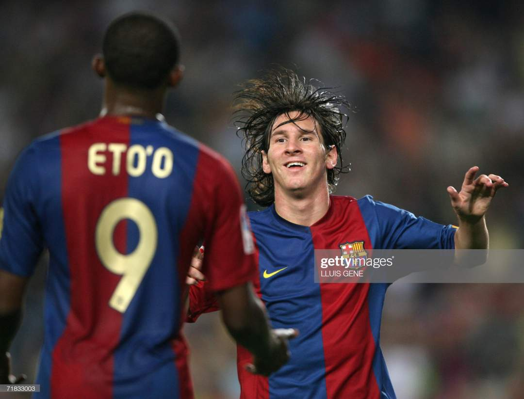 Barcelona Spain Barcelona Argentinian Leo Messi And Cameronian Samuel Picture Id71833003?s=28