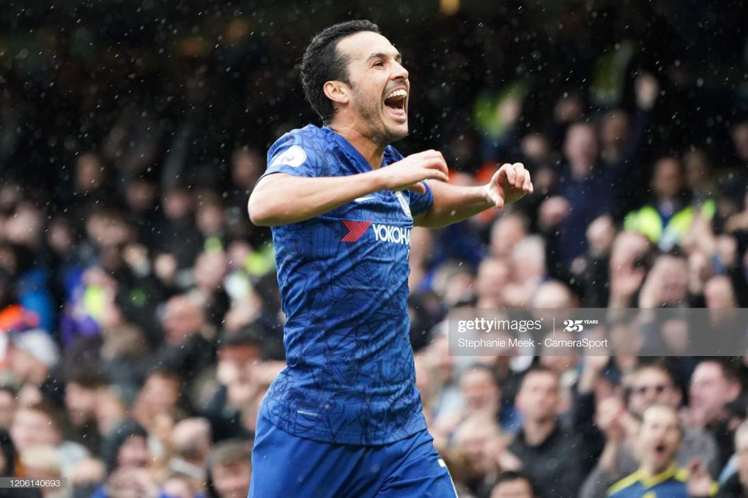 Chelseas Pedro Celebrates Scoring His Sides Second Goal During The Picture Id1206140693?s=28