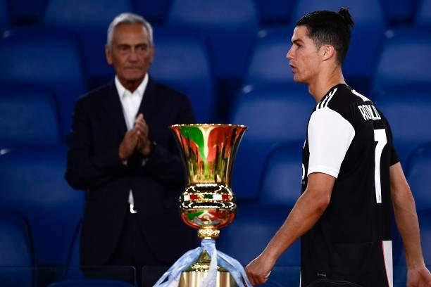 Cristiano Ronaldo Of Juventus Fc Looks Dejected During The Awards At Picture Id1220824563?k=6&m=1220824563&s=&w=0&h=kXVyxzrChXjeBXdHeh4xLa2WM LrkJPyPbUUb7Q0SoE=