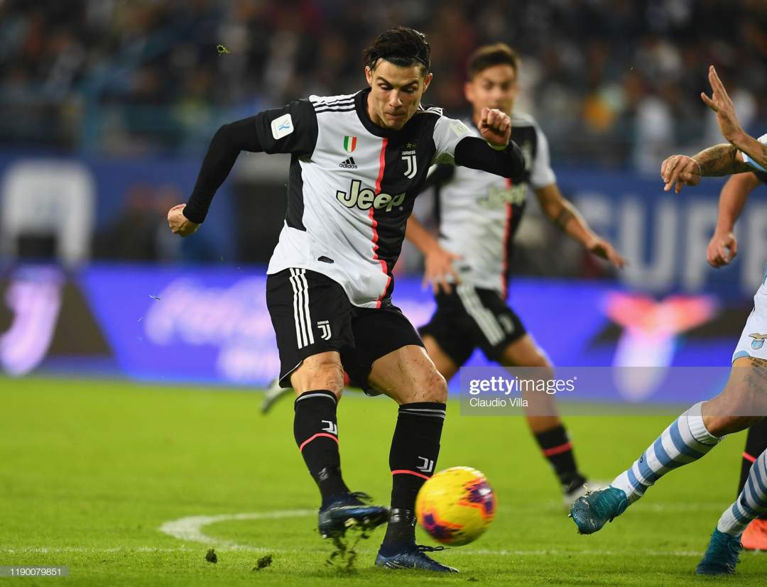 Cristiano Ronaldo Of Juventus In Action During The Italian Supercup Picture Id1190079851?s=28