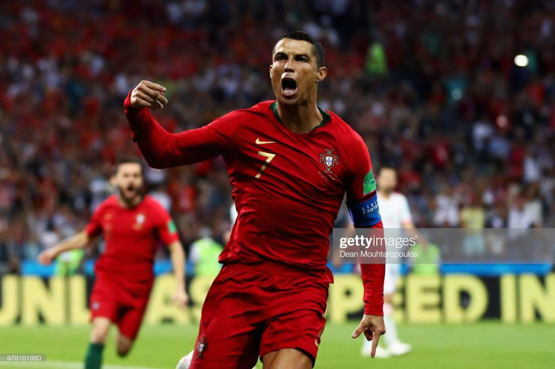 Cristiano Ronaldo Of Portugal Celebrates After Scoring His Teams Picture Id976161880?s=28