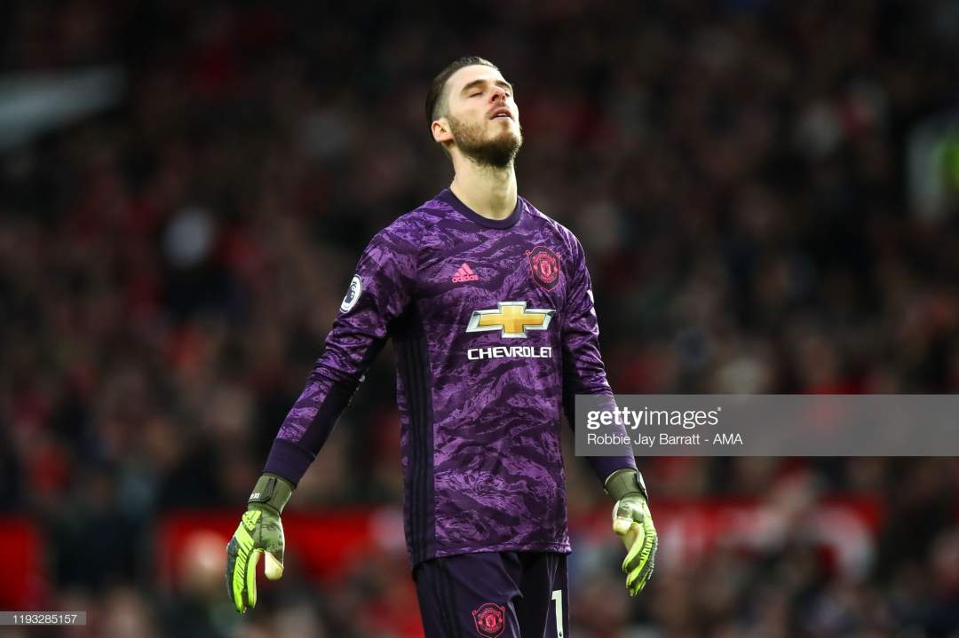 David De Gea Of Manchester United Reacts During The Premier League Picture Id1193285157?s=28