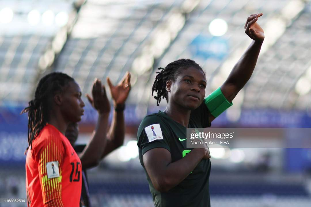 Desire Oparanozie Of Nigeria Shows Her Appreciation To The Fans After Picture Id1158052534?s=28
