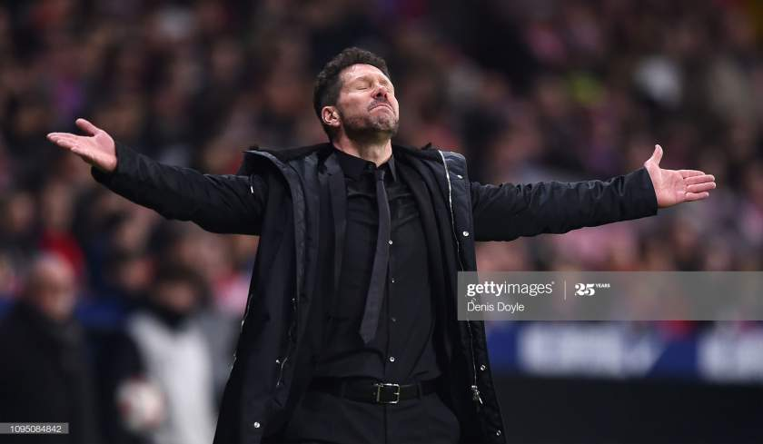 Diego Simeone Manager Of Club Atletico De Madrid Looks Dejected The Picture Id1095084842?s=28
