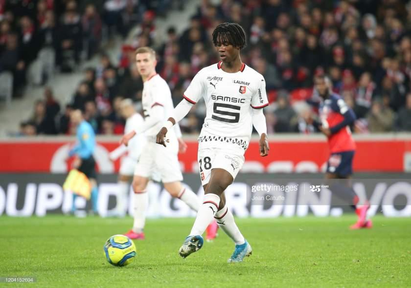 Eduardo Camavinga Of Stade Rennais During The Ligue 1 Match Between Picture Id1204152694?s=28