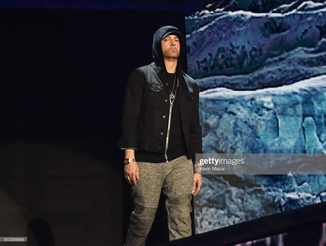Eminem Performs On Stage During The Mtv Emas 2017 Held At The Sse Picture Id873359656?s=28