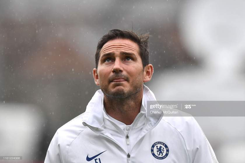 Frank Lampard Manager Of Chelsea Arrives At The Stadium Prior To The Picture Id1161224068?s=28