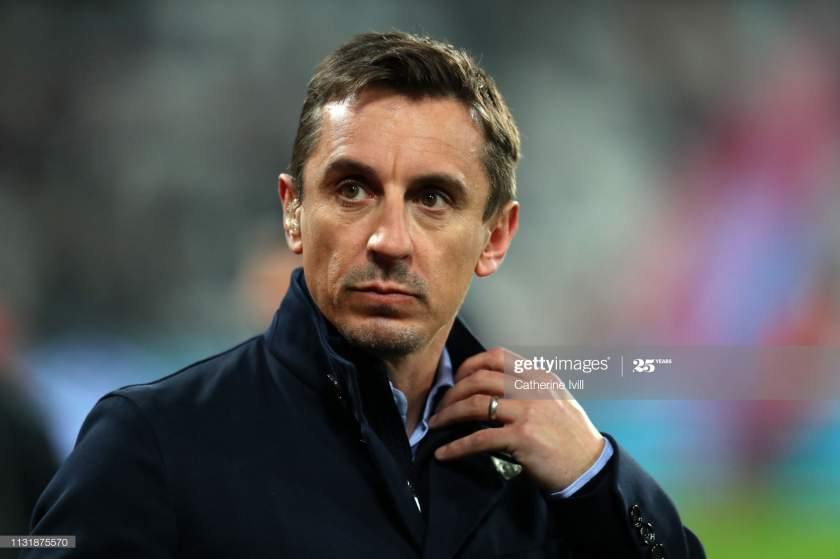 Gary Neville Ahead Of The Premier League Match Between West Ham And Picture Id1131875570?s=28