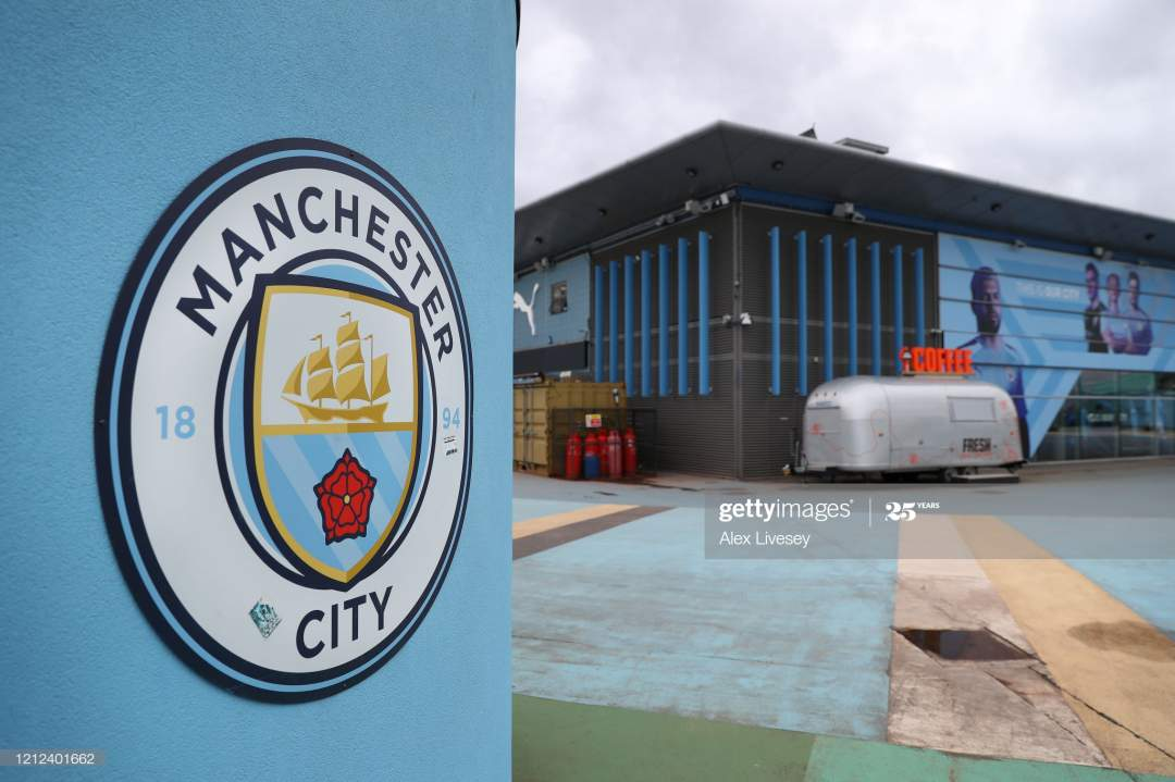 General View Outside The Etihad Stadium Home Of Manchester City Fc Is Picture Id1212401662?s=28